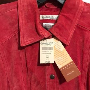 Coldwater Creek red suede shirt jacket
